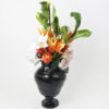 RE_Flower Arrangement in Black Vase, 2017, Glazed Paperclay, 55x34x23cm 04