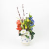 RE_Flower Arrangement in White Vase with Blue Flowers, 2017, Glazed Paperclay, 48x25x25cm 04