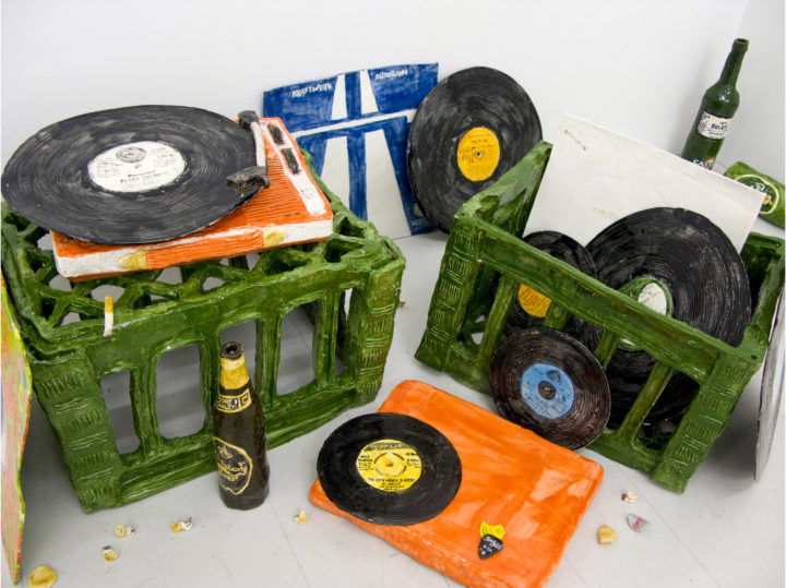 RECORD COLLECTION, 2012 - GLAZED PAPERCLAY