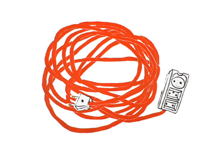 Extention cable (Orange) 2012 edition of 10 Lenolium 35 x 50 cm 2.500,-