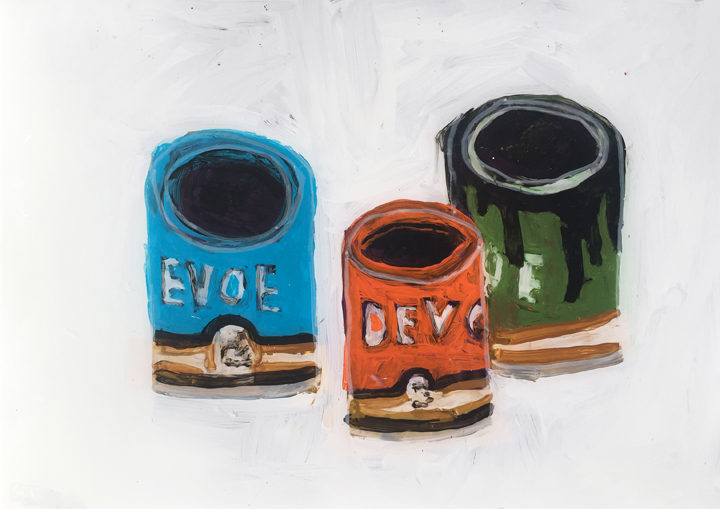 re_devoe-paint-cans_acrylic-porcelainpaint-and-tinselfoil-on-glass_21x30cm_2016